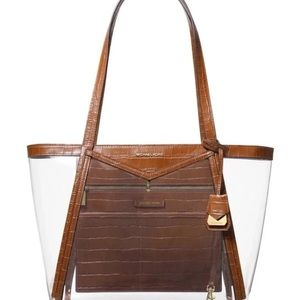 Michael kors Whitney clear inset tote